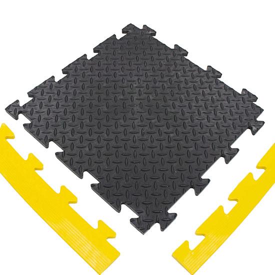 Black Diamond Plate MotoMat For Your Factory