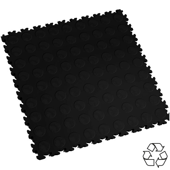 Black Recycled Cointop Temporary Floor Tile