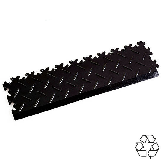Black Recycled Diamond Plate Games Room Ramp
