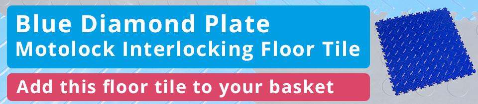 Blue Diamond Plate MotoLock Tile