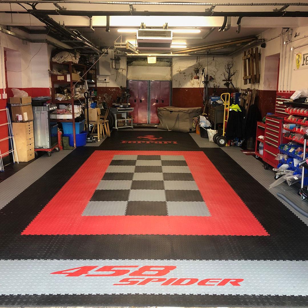 Finished Garage Flooring