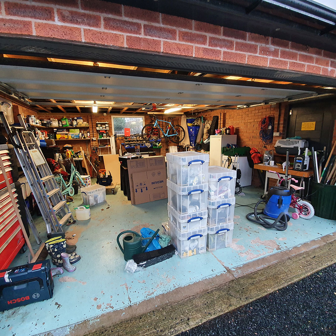 Before Photo of Garage Space