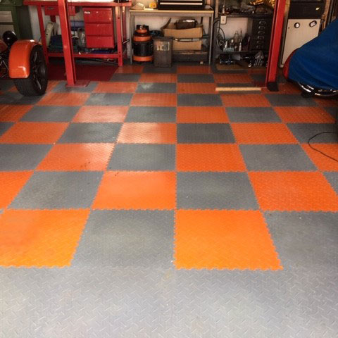 Garage Flooring from a Customer From Andover