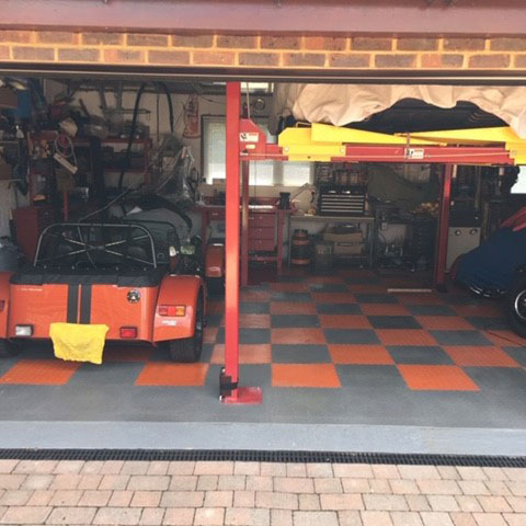 Garage Flooring From a Customer in Andover
