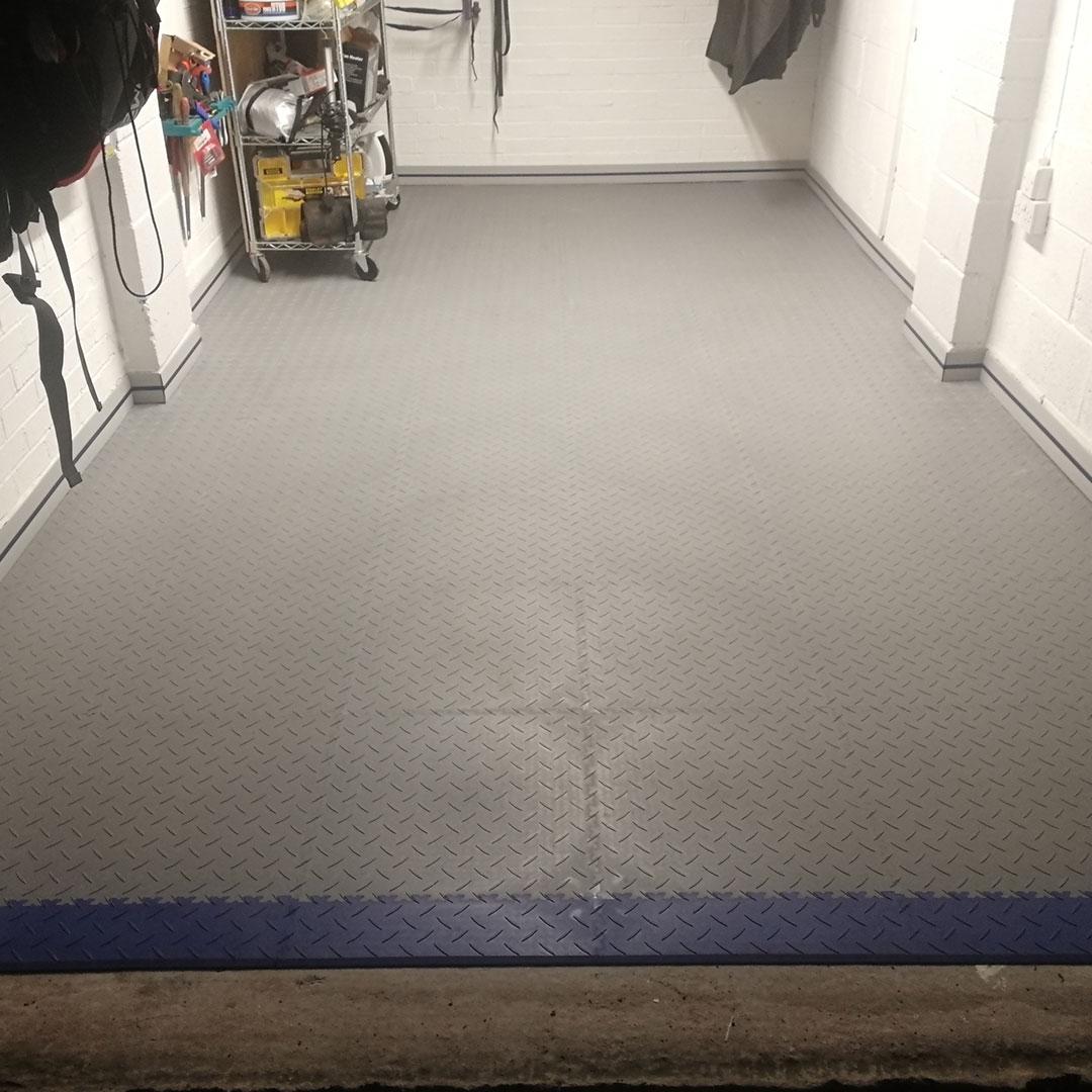 After photo of garage floor