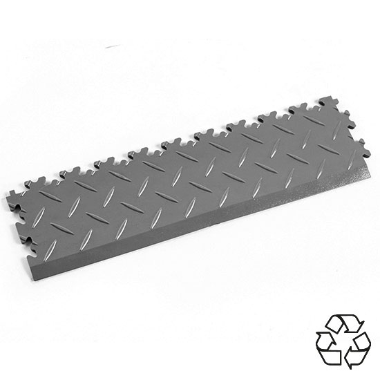 Mid Grey Recycled Diamond Plate Ramp Edge For Your Garage