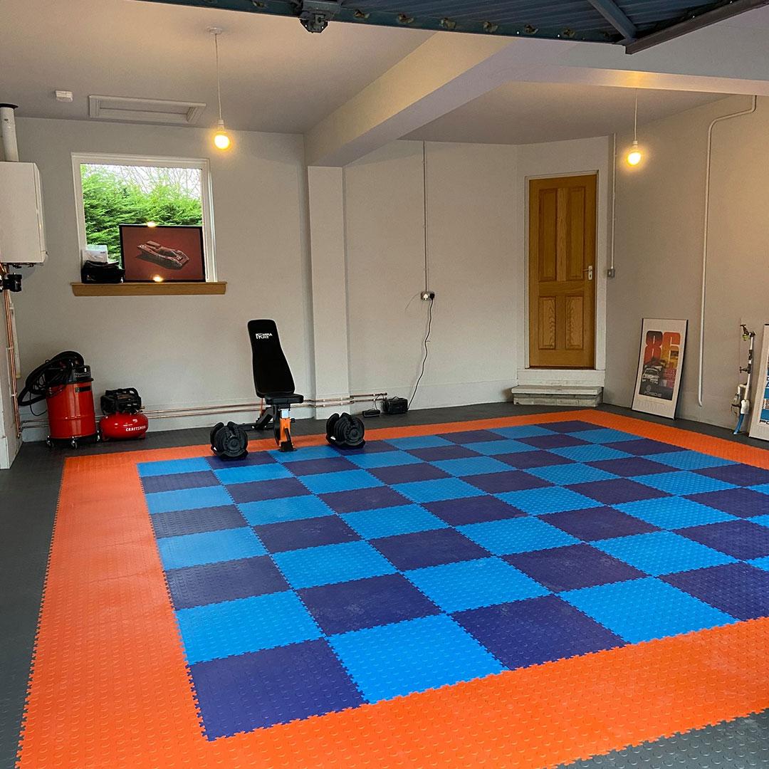 MotoLock Double Garage Gulf flooring Colours