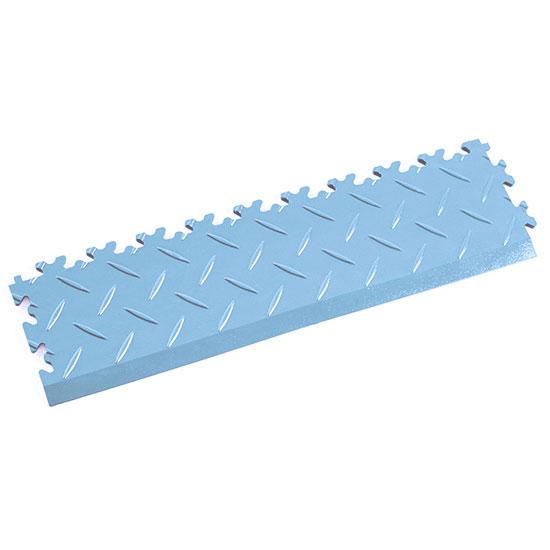 Light Blue Diamond Plate Ramp For Your Floor