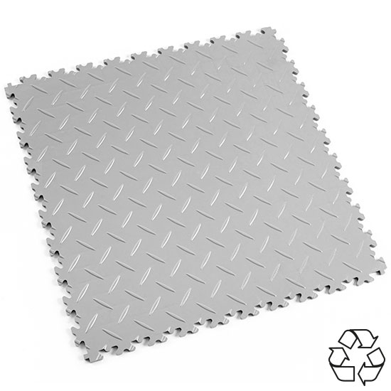 Light Grey Recycled Diamond Plate Commercial Flooring