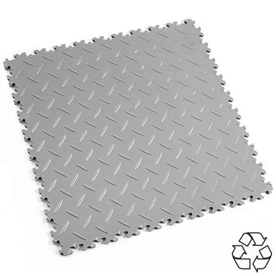 Light Grey Recycled Diamond Plate Floor Tile For Your Factory