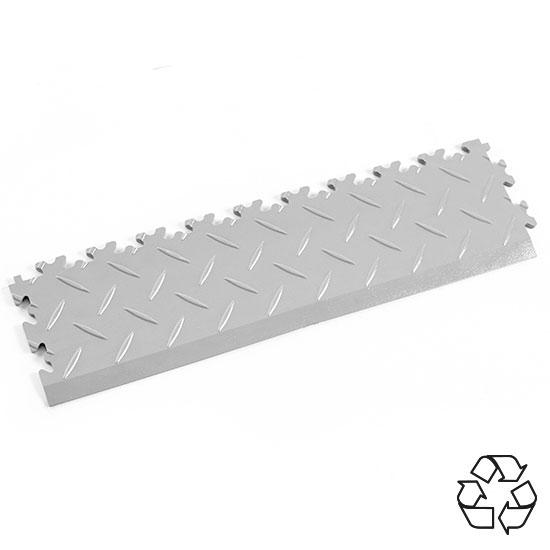 Light Grey Recycled Diamond Plate Temporary Ramp