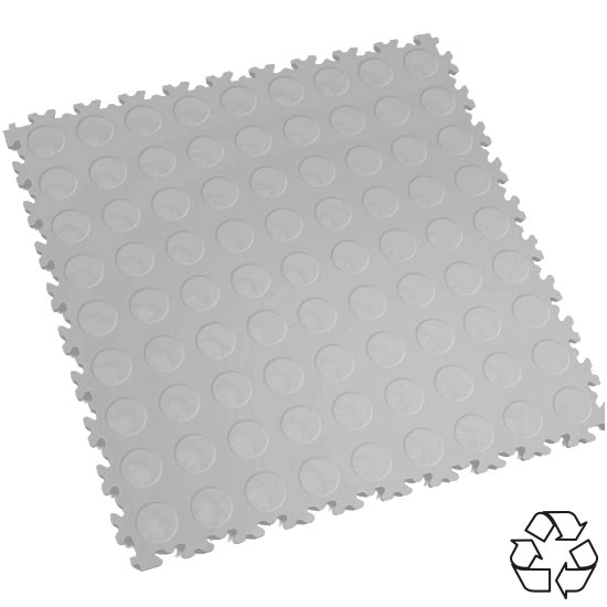 Light Grey Recycled Cointop Floor Tile For Your Warehouse