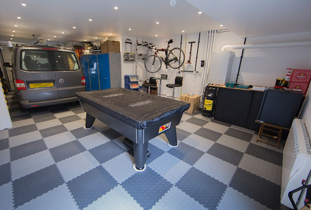 Man Cave With A Pool Table