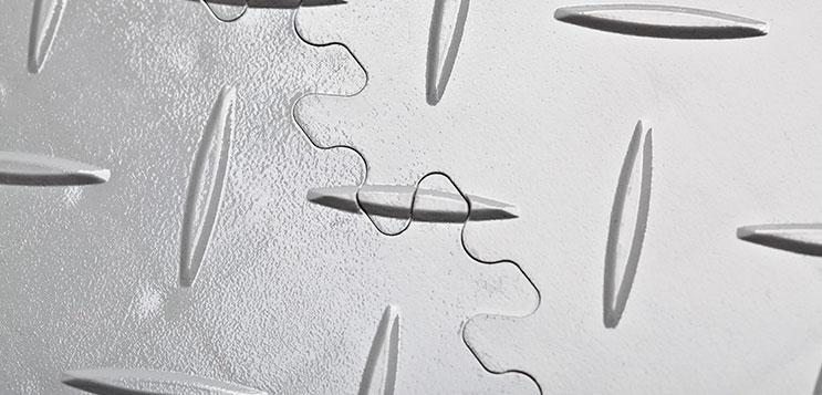 Close up photograph of MotoLock Interlocking Tiles