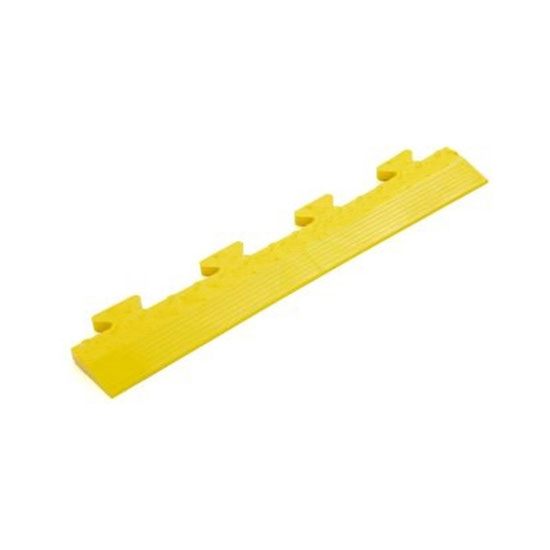 Yellow Diamond Plate MALE Edge Ramp For Your Workshop