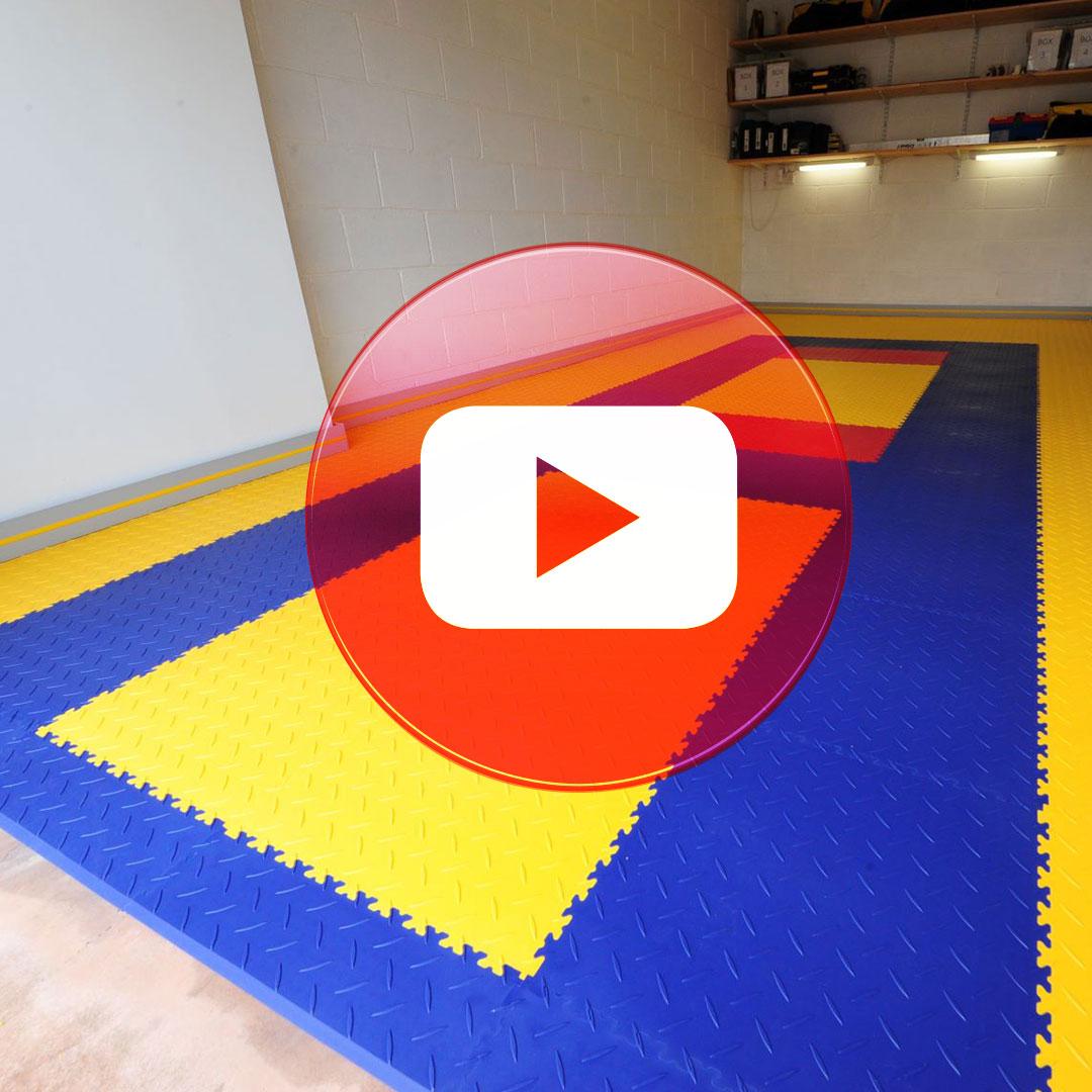 Colourful single garage flooring customer review