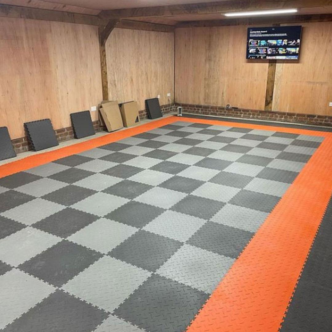 Triple Garage Using MotoLock Tiles