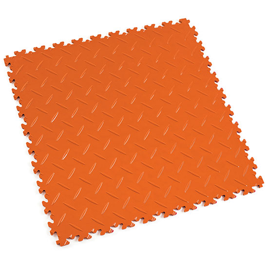 Orange Floor Tile For Your Garage