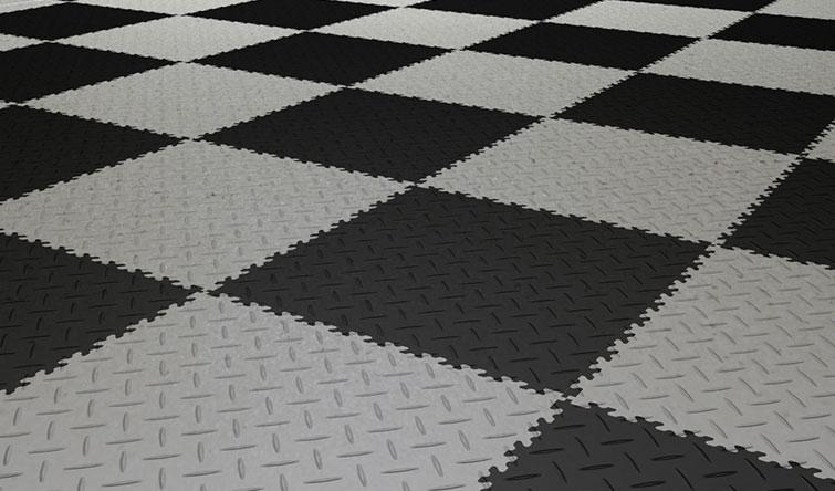 Shop floor tiles