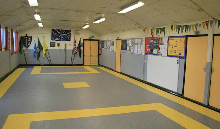 Factory floor tiles
