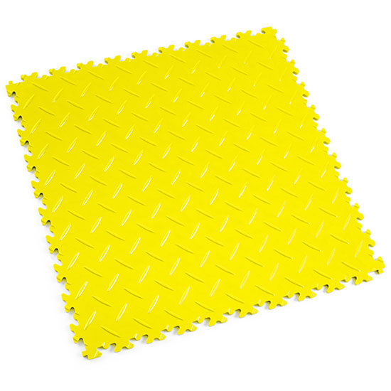 Yellow Diamond Plate Floor Tile For Your Commercial space
