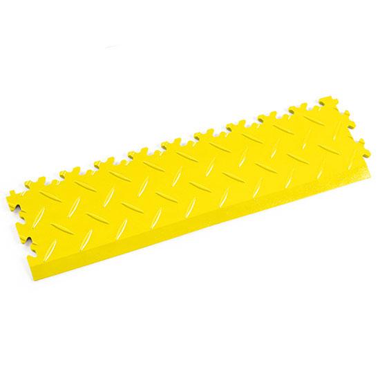 Yellow Diamond Plate Temporary Edge Ramp