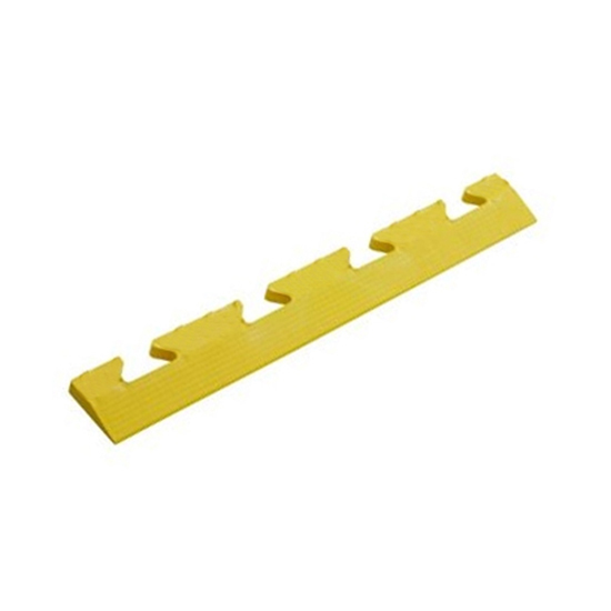 Yellow Diamond Plate FEMALE Edge Ramp For Your Warehouse