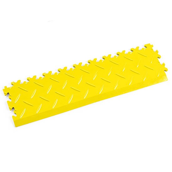 Yellow Diamond Plate Ramp Edge For Your Garage