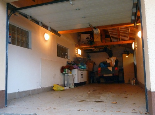 A Garage Before Tiles Laid.