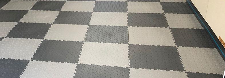 Grey and Dark Grey Diamond Plate Commercial Floor Tiles