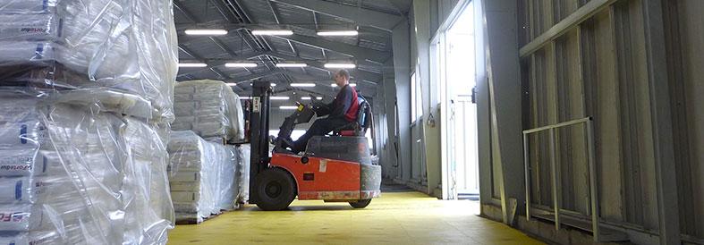 Yellow Diamond Plate Factory Flooring