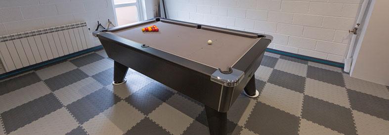 Light and Dark Grey Recycled Diamond Plate Games Room Floor Tiles