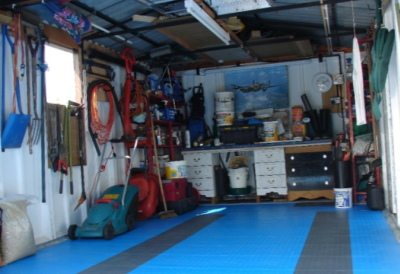 Tidy garage tidy floor tiles