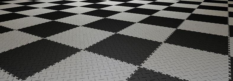 Grey shades Diamond Plate Shop Flooring