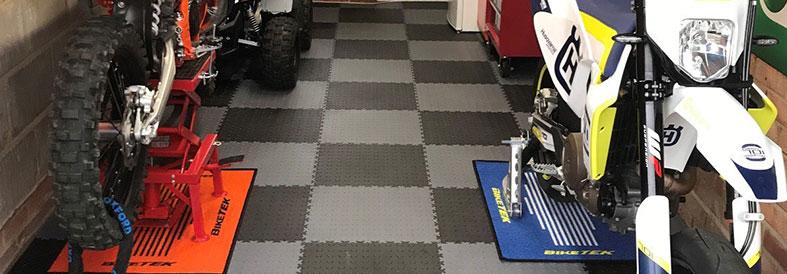 Grey shades Diamond Plate Shop Floor Tiles