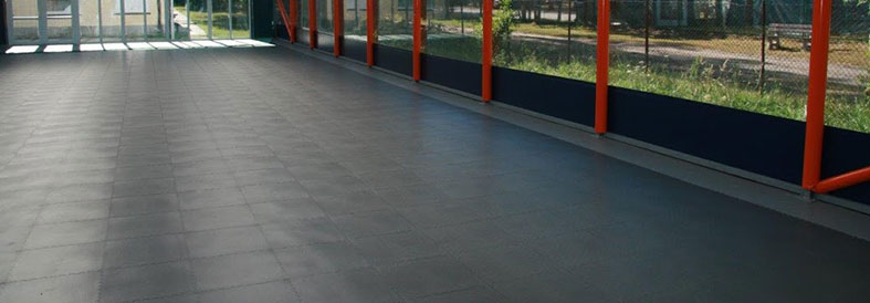 Mid Grey Recycled Diamond Plate Warehouse Tiles