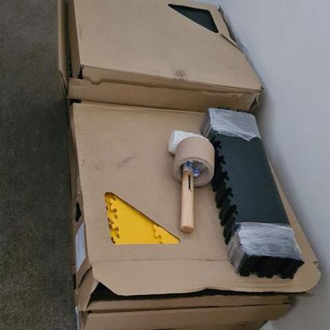 Delivery of mototile garage tiles