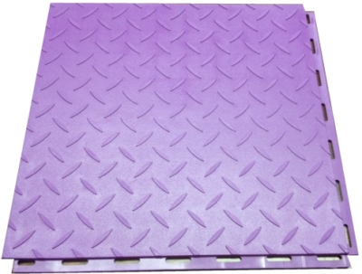 Mototile Seamless Tile in Diamond-Plate face, Diablo Purple.