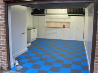 Completed Garage with Mototile flooring