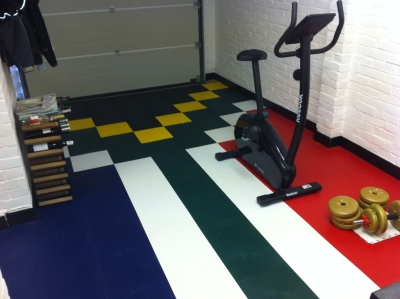 Gym Flooring using Mototile Tiles.