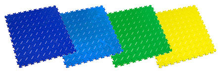 New interlocking Tiles Blue, Electric Blue, Light Green, Purple And Yellow Classic Colours