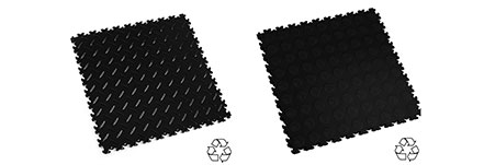 Recycled interlocking Tiles Black Colours