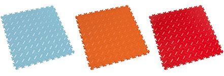 New interlocking Tiles Light Blue, Orange And Red Premium Colours