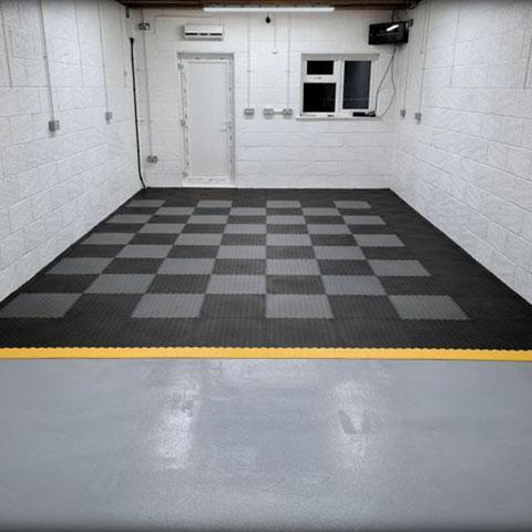 Mototile garage tiles after photograph