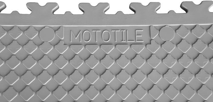 Mototile Logo On The MotoLock Interlocking Tiles