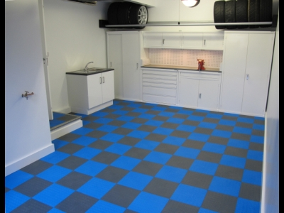 Workshop Flooring using Mototile Seamless tiles.