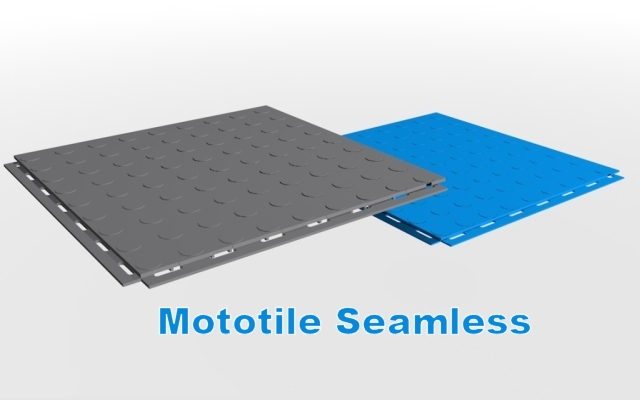 Mototile Seamless interlocking floor tiles,