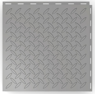 Diamond Plate Tile Design.