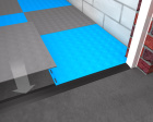 Fitting a garage tile ramp