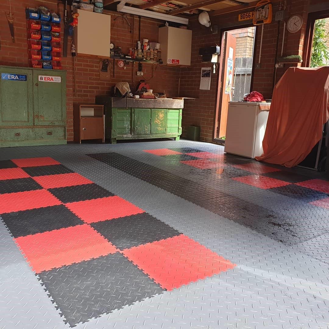 Workshop Garage Intelocking Floor Tiles at Lock'n'Secure